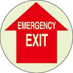 EMERGENCY EXIT 高亮度夜光地贴 自发光地面标贴 提示牌