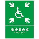 安全标识牌 消防标识设施 集合/疏散 安全集合点标牌