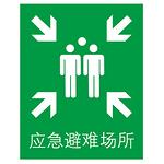 急救标识  应急避难场所  安全标识 提示类告示牌 指示牌 提示牌 标牌