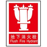 地下消火栓 消防标识设施 告示牌/指示牌 指示牌 警示牌