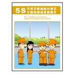安全宣传 挂图 5S企业管理 自我检讨 改善提升 悬挂牌