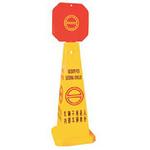 直立式告示牌-车辆不准进 安全标识标志牌 警示牌中英对照提示牌