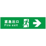 紧急出口 向右 推门逃生标识 标志牌/提示牌 安全标识牌