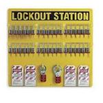贝迪安全锁具 挂锁管理中心-挂锁板 含36把钢制挂锁 54.6*59.7cm 51196