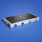 纽匹格NewPig PAK565防溢台(两桶) 聚乙烯滴漏平台 防溢盛装盘 工业防溢托盘 带格栅防溢盘