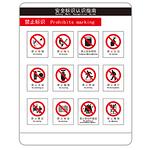 安全宣传 安全认知指南 禁止标识 警告牌 标识牌
