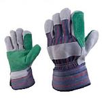 代尔塔 双层牛皮手套 204208 牛皮手套 全棉帆布手套 防穿刺 个人防护 劳保手套