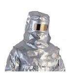 代尔塔 隔热防喷溅头罩 402019 隔热连体套装 镀铝涂层阻燃复合面料 个人防护服