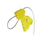 贝迪安全锁具 独创缆锁 黄色 配镀锌钢缆直径0.3CM 45192
