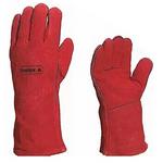 隔热焊工手套 红色 205515 隔热手套 纯皮手套 劳保手套 牛皮手套 耐高温手套