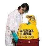 纽匹格NewPig BAG202-L化学品储存袋 25个/箱 黄色聚乙烯防化垃圾袋 危险废料处理袋