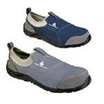 代尔塔 松紧系列安全鞋 防砸防穿刺 灰色/藏青色 松紧鞋 安全鞋 个人防护安全鞋