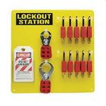 贝迪安全锁具 挂锁管理中心-挂锁板 含10把安全挂锁 34.3*34.3cm 51187
