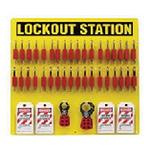贝迪安全锁具 挂锁管理中心-挂锁板 含36把安全挂锁 54.6*59.7cm 51195