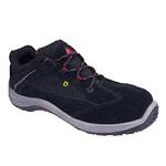 代尔塔 ESD电子防静电安全鞋 301212 黑红色运动款防砸,防静电安全鞋 劳保鞋