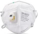 KN90/P1 折叠式带阀防尘口罩 头带式 3M 9002V 防尘口罩 防病菌口罩 劳保口罩 防毒口罩 防护口罩