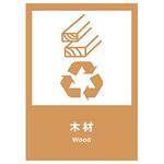 环保 木材  中英文  安全标志牌 环保可回收标识 告示牌 指示牌 提示牌