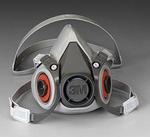 6000系列 半面型防护面罩(双滤盒) 小号 3M 6100 防病菌面罩 防护面罩 劳保面罩 呼吸防护
