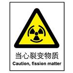安全标志牌 指示牌 警示提示牌 标签 标牌 当心裂变物质告示牌 标识牌