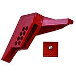 贝迪安全锁具 阀门锁具 标准球阀锁 尼龙 适合管道直径0.6-2.54CM 锁孔直径7MM 65666