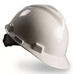 V-Gard 梅思安标准型安全帽 9121423 ABS帽壳+轻旋风帽衬+C型下颏带+PVC吸汗带 安全帽 防砸帽 施工帽