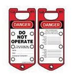 贝迪安全锁具 二合一超耐久搭扣 红色 65960