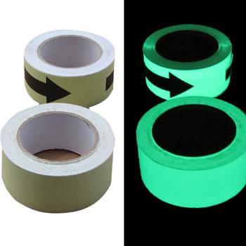 强亮度夜光胶带 荧光胶布 自发光警示胶带 V型 条纹 箭头胶带