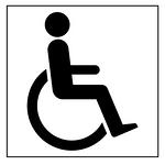 地面标识模版-残疾人通道-标识模板500*500MM铝板黑白