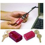 贝迪安全锁具 简易插头锁 红色 65673