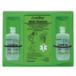 霍尼韦尔 16盎司双瓶装洗眼液配Honeywell挂板 32-000465-0000 洗眼液 眼部护理液 护目液