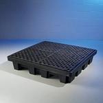 纽匹格NewPig PAK210-WD防渗溢托盘 四桶托盘 聚乙烯盛漏托盘 工业防溢台