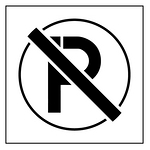 地面标识模版-禁止停车-标识模板 铝板500*500MM黑白