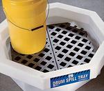 纽匹格NewPig DRM371圆桶盛漏盘 圆桶防溢盛装盘 小型盛漏盆 带格栅防溢桶