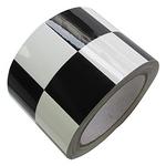 格状警示标贴 安全提醒胶带 地面警示标识胶条 双色隔离胶带胶布