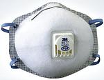 P95 防护口罩(带呼气阀) 头带式 防有机异味及颗粒物 3M 8577 劳保口罩 防护口罩 防病菌口罩