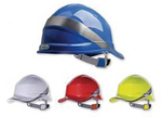 代尔塔ABS安全帽 102018 工作帽 建筑安全帽 防砸帽 施工帽 头部防护 劳保用品