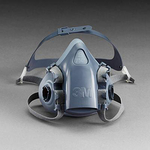 7000系列 硅质半面罩 小号 3M 7501 半面罩 防病菌面罩 防护面罩 防尘面罩 防毒面罩 呼吸防护