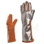 代尔塔 TERK400A 隔热服防喷溅镀铝手套 205401 劳保手套 隔热手套 个人防护