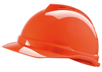 V-Gard 梅思安豪华型安全帽 10109032 ABS帽壳+通风孔+易拉宝帽衬+D型下颏带+PVC吸汗带 施工安全帽
