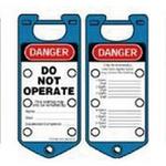 贝迪安全锁具 二合一超耐久搭扣 蓝色 65962